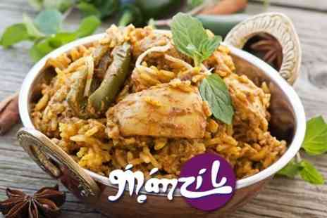 Manzil - Two Course Indian Meal For Two Plus Poppadoms and Chutney - Save 60%