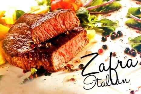 Zafra - Classic Italian Fare Two Course Meals Plus Liqueur Each For Two - Save 55%