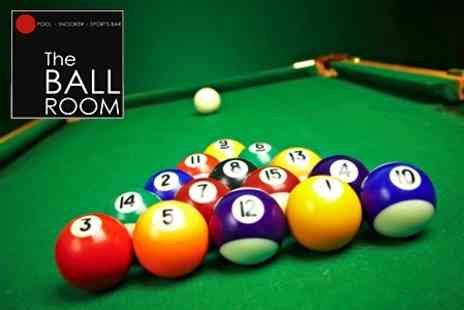 The Ball Room - Pizza and Nachos With Pool or Snooker For Two People - Save 71%