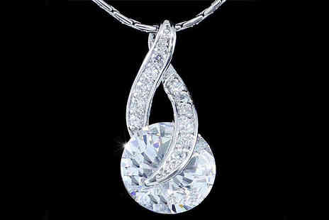 Envy Accessories - 18 Carat White Gold Plating & Swarovski Elements Necklace - Save 84%