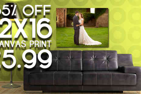 Memories Canvas Print - Transform a memory with a 12 x 16 Personalised Canvas Print - Save 85%