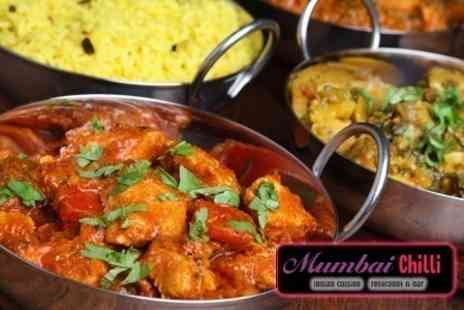 Mumbai Chilli - Two Course Indian Meal With Rice or Naan For Two - Save 37%