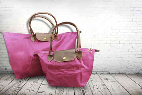 Style Potential - Longchamp style travel handbag set choose from 5 colours - Save 71%