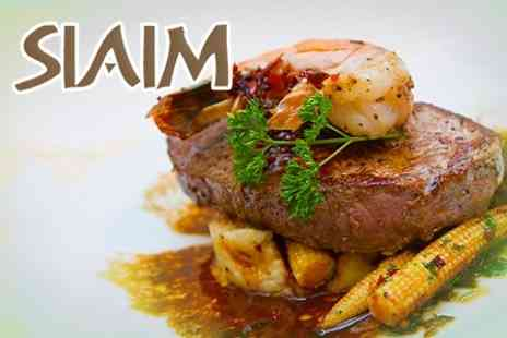 Siaim - Surf and Turf Steak and King Prawns Meal For Two - Save 52%