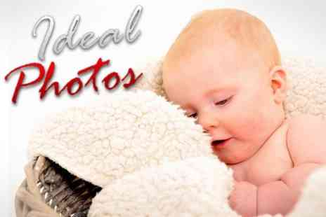 Ideal Photos - Family Photoshoot With Three Prints - Save 59%