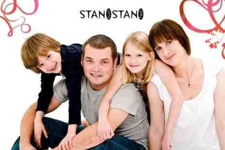 Stan Plus Stan Two - Family Photoshoot With Three Mounted 8x6 Prints and Digital Image - Save 93%