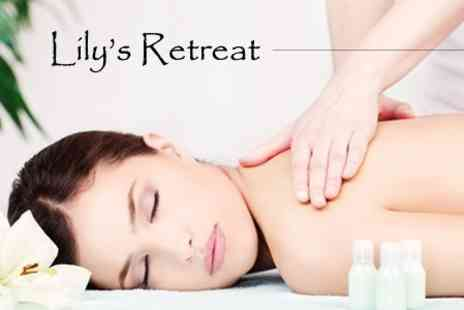 Lilys Retreat - One Hour Aromatherapy, Deep Pressure or Sports Massage - Save 55%
