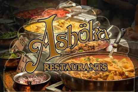 Ashoka Shak Livingston - Three Course Indian Buffet For Two - Save 35%