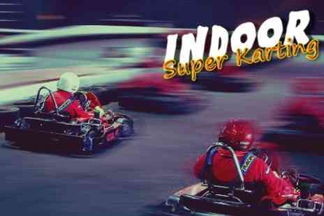 Indoor Super Karting - Go Karting 30 Laps For One - Save 60%