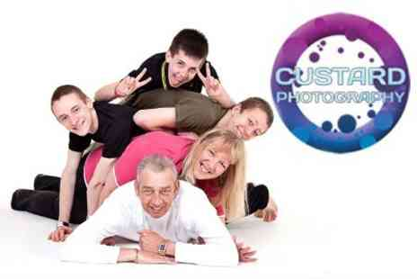 Custard Photography - Family, Fashion or Couples Photoshoot With One Large or Four Small Prints - Save 88%