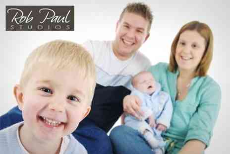 Rob Paul Studios - Photoshoot Family Portrait Session With Mounted Print and Hi Res Disc Image - Save 95%