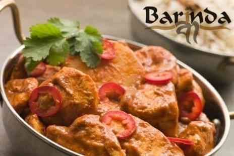 Barinda - Two Course Indian Meal With Rice For Two - Save 62%