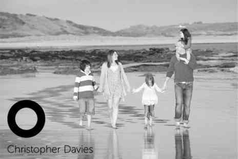 Christopher Davies Photography - On Location Family Photoshoot With Mounted Print - Save 94%