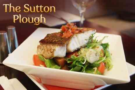 The Sutton Plough - Country Pub Meal For Two - Save 33%