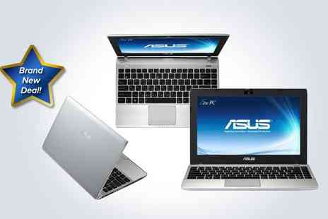 Box Limited - Silver ASUS Eee PC laptop with a neoprene case and USB optical mouse - Save 50%