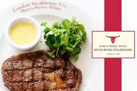 Kings Road Steakhouse & Grill - Two Course Steak Meal For Two With Champagne Cocktail Each - Save 56%