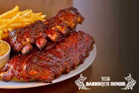 The Barbeque House - Ribs, Schnitzel or Pulled Pork Sandwich For Two - Save 63%