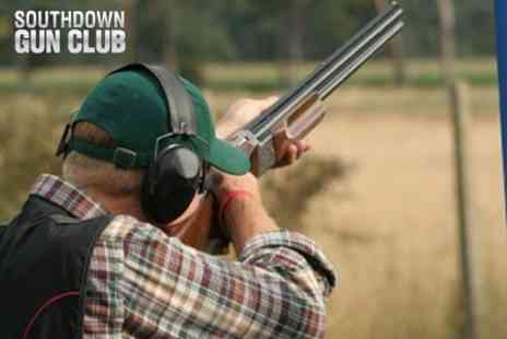 Southdown Gun Club - Clay Pigeon Shooting One Hour Lesson For Two With 80 Clays and 80 Shots - Save 46%