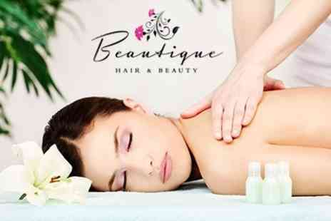 Beautique Hair and Beauty - One Hour Full Body Massage - Save 50%