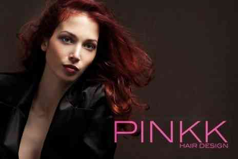 Pinkk Hair Design - Full Head Colour With Cut and Restyle - Save 68%