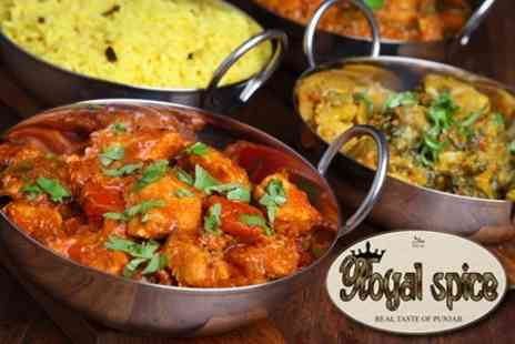 Royal Spice - Two Course South Asian Meal For Two - Save 51%