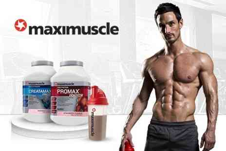 GlaxoSmithKline PLC - Maximuscle 1103g Creatamax Extreme and 908g Promax Extreme Shakes With Shaker - Save 54%
