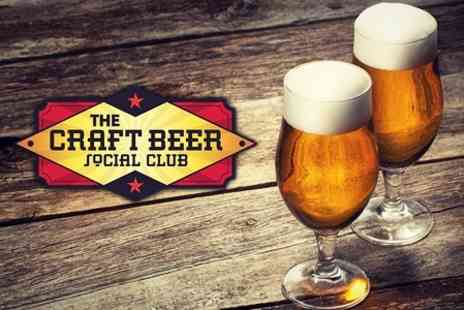The Craft Beer Social Club - Beer Tasting For Two - Save 60%