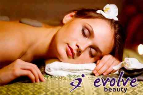 Evolve Beauty - One Hour Full Body Hot Stone Massage - Save 50%