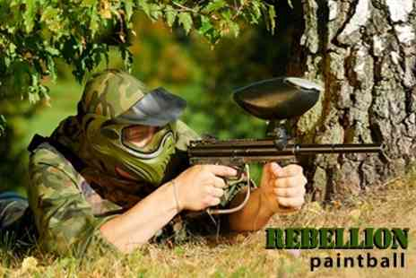 Rebellion Paintball - Paintball For Two People Plus 100 Rounds of Ammo and Lunch - Save 83%