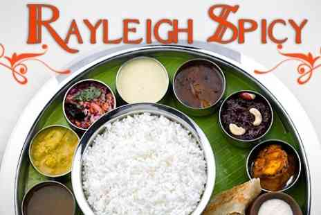 Rayleigh Spicy - Indian Thali Platter For Two With Liqueur Coffee - Save 48%