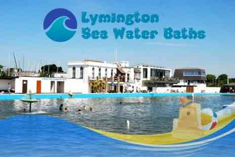 Lymington Sea Water Baths - Entry For Family of Four With Ice Cream Each For One - Save 50%