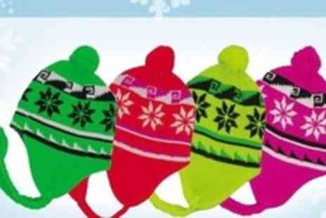 FuFu Fashion - Adults Snowflake Beanie Hat in a Range of Colours - Save 50%
