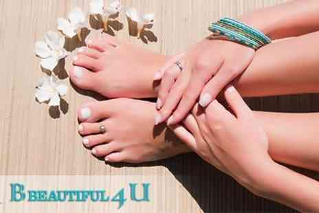 B Beautiful 4 U - Shellac Manicure or Pedicure - Save 56%