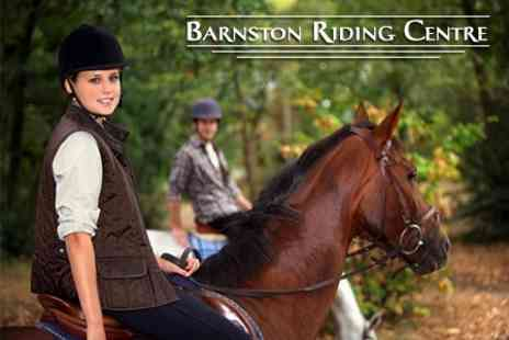 Barnston Riding School - Horse Riding Two Adult or Child Lessons For One - Save 61%