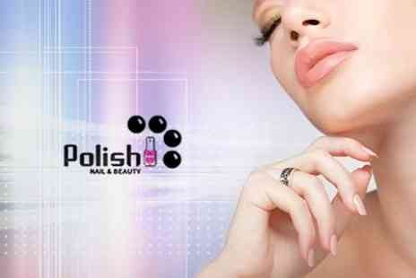 Polish Nail and Beauty - Deluxe Manicure - Save 56%