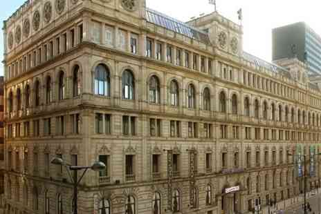 Britannia Hotel Manchester City Centre - One Night Stay For Two With Wine and Breakfast - Save 52%
