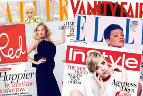3PM - Magazinesubscriptions.co.uk Voucher valid against 30plus titles, including Red, InStyle, Elle, Tatler - Save 50%