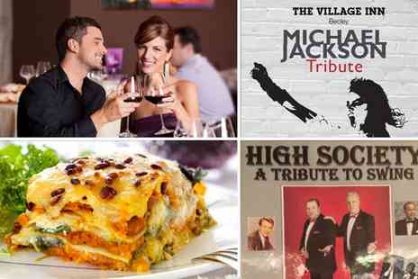 The Village Inn - Four tickets to a live music night including a two-course meal each with a bottle of wine - Save 51%