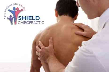 Shield Clinic - Chiropractic Consultation and Examination Plus Spinal Scan and Two Treatments - Save 86%