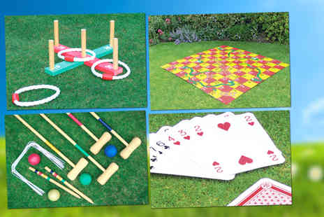 The Kript - From £7 for a choice of 4 outdoor garden games, choose from Quoits, Snakes & Ladders and more - Save 46%