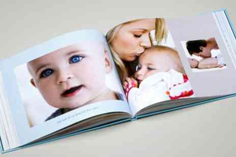 PhotoBox - Personalised 26 Page Classic A4 Photobook with Premium Embossed Cover and Glossy Pages - Save 62%