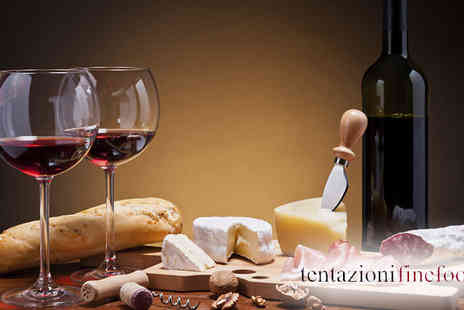 Tentazioni Fine Foods - Spend a romantic afternoon in the sun enjoying this Italian Cheeses and Meats Platter with a bottle of wine for two - Save 55%