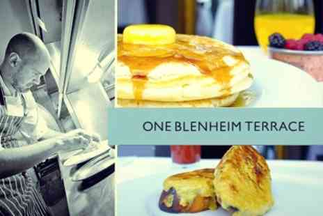 One Blenheim Terrace - Five Course Brunch Tasting Menu With Bucks Fizz For Two - Save 28%