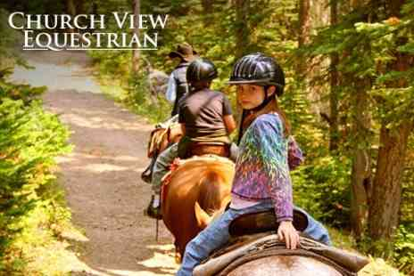 Church View Equestrian - Group Riding Lessons One Hours - Save 58%