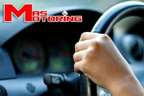 MAS Motoring - Eight Hours of Driving Tuition and Practical Test - Save 59%