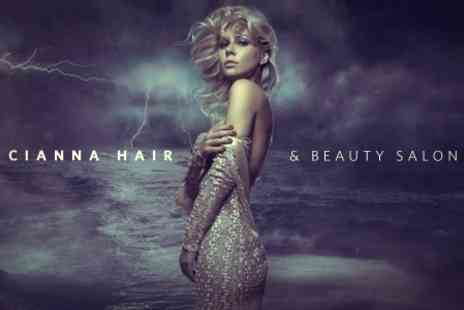 Cianna Hairdressers - Full Highlights or Colour With Cut Plus Blowdry or Restyle - Save 82%