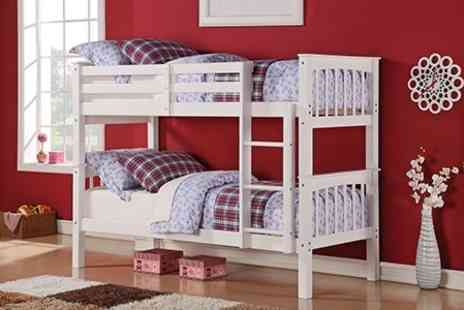 Beds and Mattress World - Solid Pine Shaker Style Bunk Bed - Save 66%