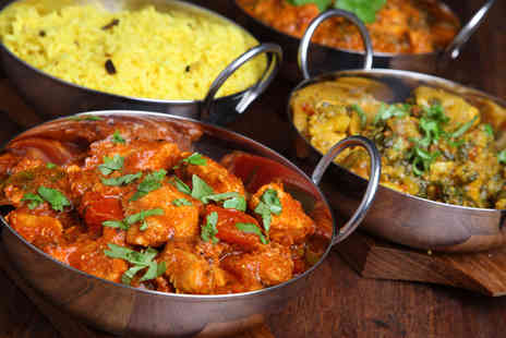 Sherwoods Restaurant - Two course Indian meal for 2 inc glass of wine each - Save 66%