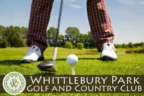 Whittlebury Park Golf and Country Club - 18 Holes of Golf  20 Driving Range Balls Plus Meal For Up to Four - Save 59%