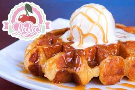 RaRas - Pancake Waffle or Ice Cream Sundae For Two - Save 50%